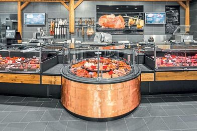 Fast safety concept for refrigerated counters