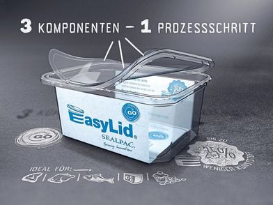 Container-lid packaging saves sealing film