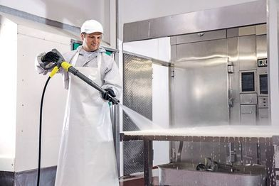 High-pressure professional cleaning